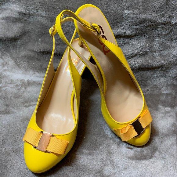yellow heels open toe
